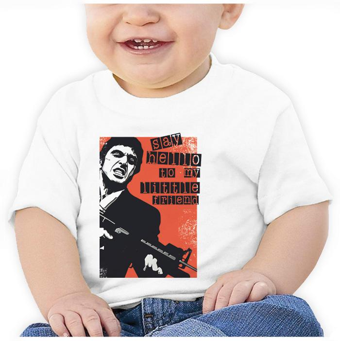 Ropa: Playera Bebé Tony Montana: Say Hello To My Little Friend Tv y Cine Personajes