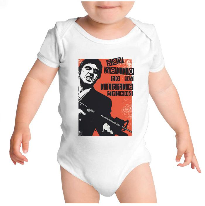 Ropa: Pañalero Body Bebé Tony Montana: Say Hello To My Little Friend Tv y Cine Personajes