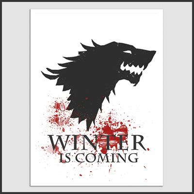Poster De Winter Is Coming - Juego De Tronos - INK KONG