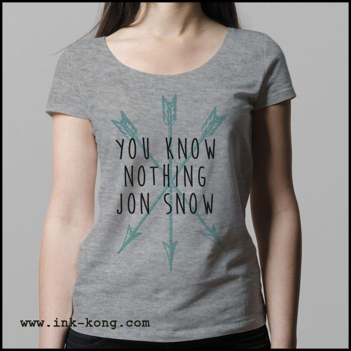 Ropa: Descuento You Know Nothing Jon Snow. Playeras de Game Of Thrones Mexico Tv y Cine Personajes