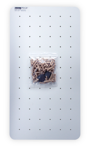 Medium Pegboard, Pegs, and Magnets for mounting