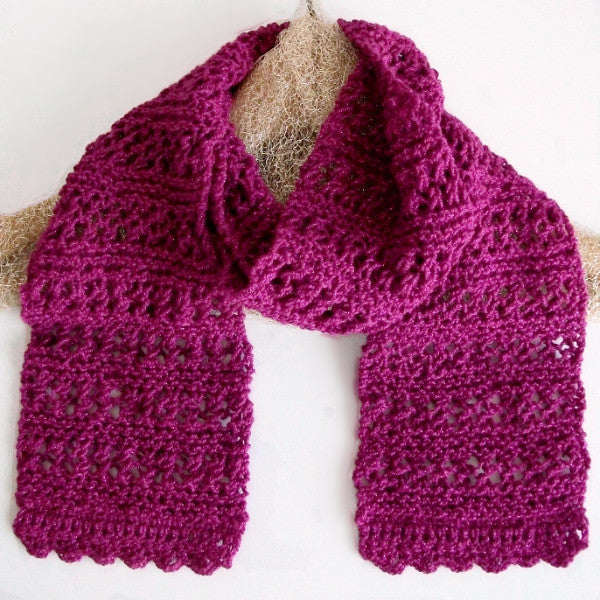 Magenta Pink Lace Scarf