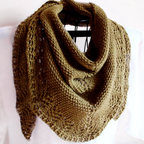 Lady's Mantle Triangle Scarf Knitting Pattern