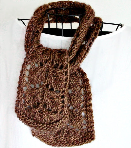 Leaf Lace Knit Scarf Pattern