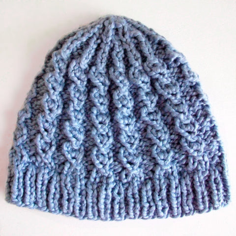 Rustic Twist Mock Cable Hat Knitting Pattern
