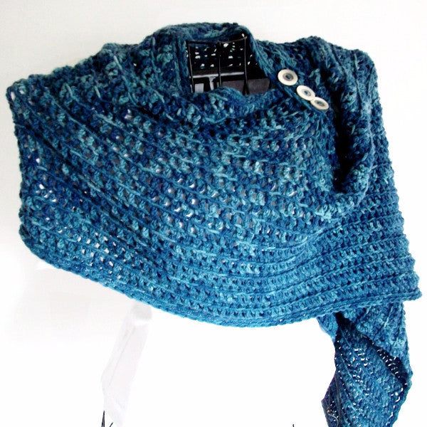 Deep Waters Rustic Crochet Shawl Pattern