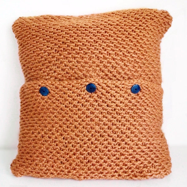 Harvest Moon Pillow Cover Knitting Pattern