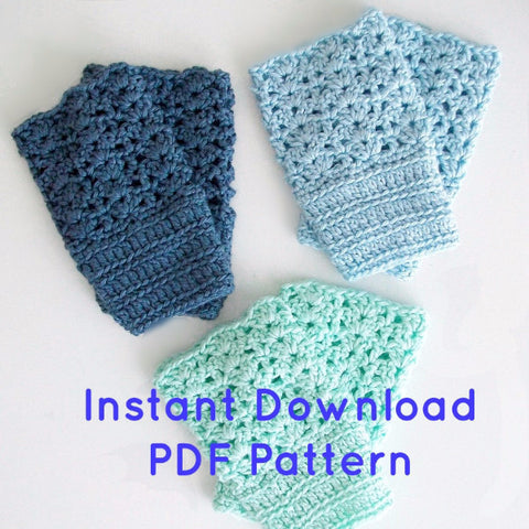 Crochet Boot Cuffs With Lace Pattern : Sea Glass Vintage Style Lace Boot Cuffs Crochet Pattern ...