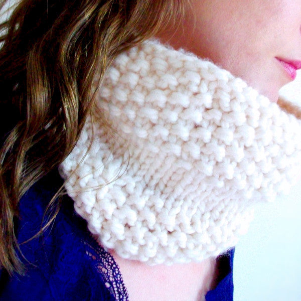 Pillow Puff Circle Scarf Knitting Pattern