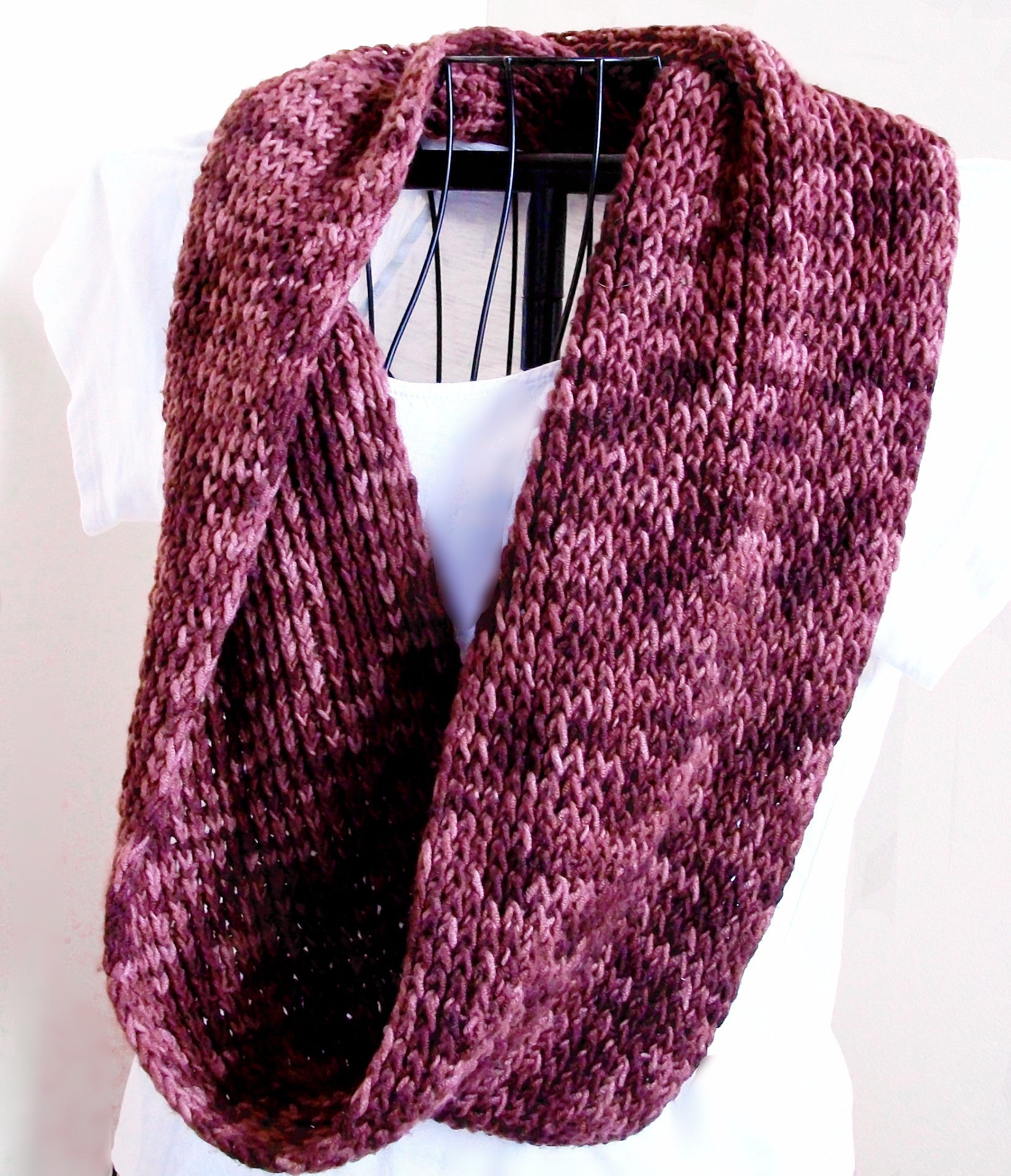 Knitting Pattern Twisted Scarf : Pretty Twisted Ribbed Scarf Knitting Pattern   Bluestockinette