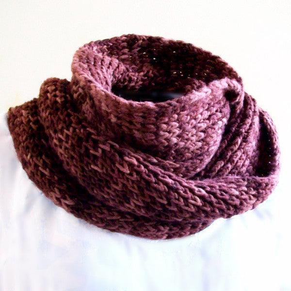 Pretty Twisted Knit Scarf Pattern