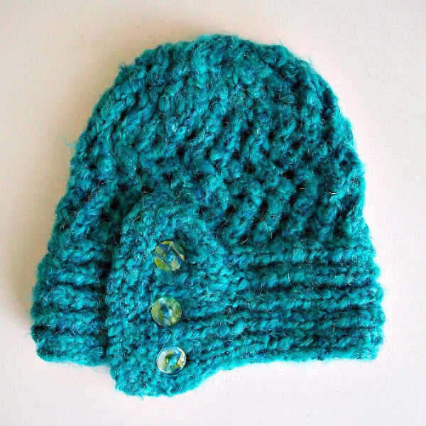Madame Coco Knit Teal Hat
