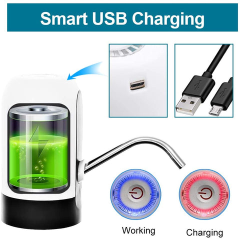 Magic USB Rechargeable Water Dispenser LED