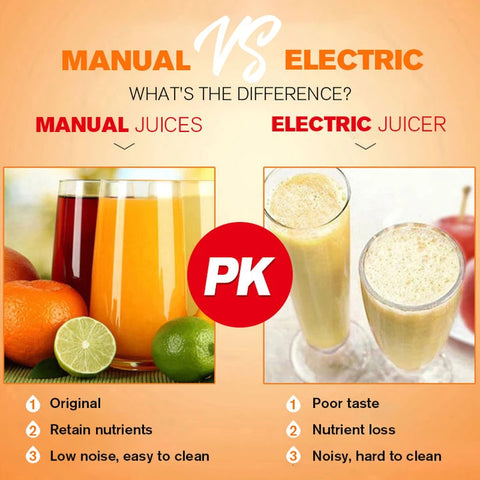Manual Hand Press Fruit Juicer  Squeezer Difference