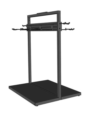 Free Standing Modular Guitar Display Single Tier