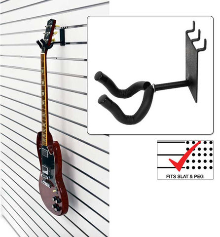 "2"" Guitar Grabber fits slatwall and pegboard"