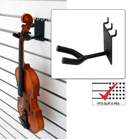 "2"" Violin  /  Viola Hanger fits slatwall and pegboard"
