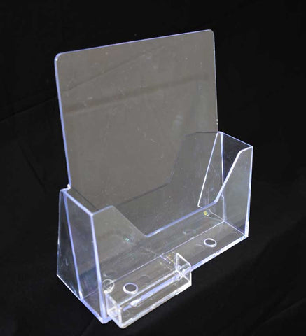 "ACRYLIC LITERATURE RACK w/card holder 8 ½"" X 11"""