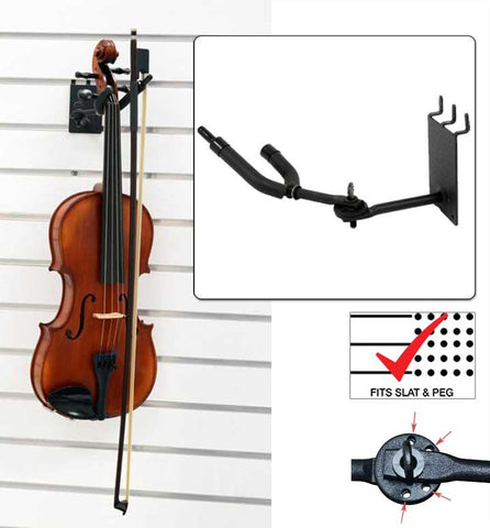 "3"" Violin / Viola Hanger with Bow Holder, Adjustable"
