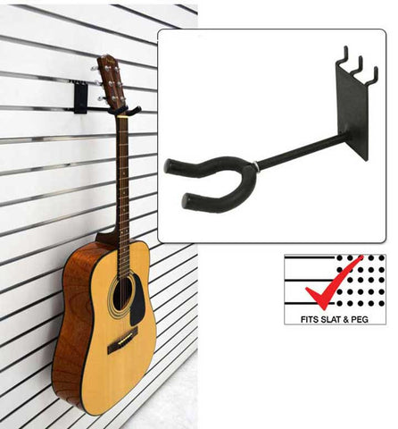 4 inch Standard Guitar Hanger fits slatwall and pegboard