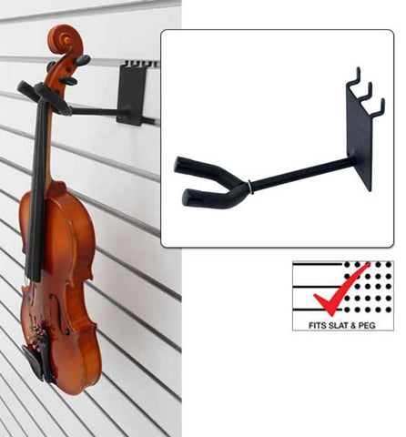4 inch Violin / Viola Hanger fits slatwall and pegboard