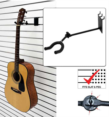 "7"" Standard Guitar Hanger, Adjustable"