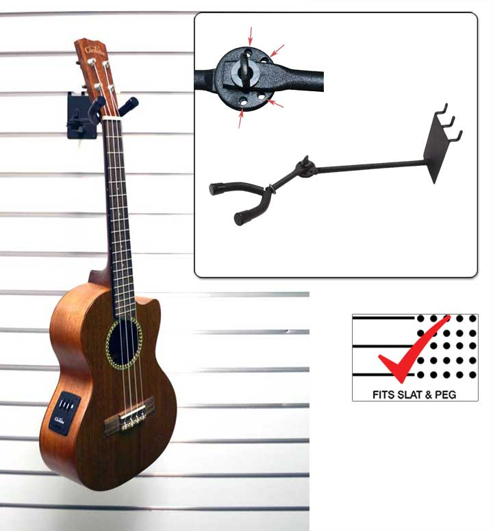 7 Ukulele Mandolin Hanger Adjustable Musical Instrument Displays
