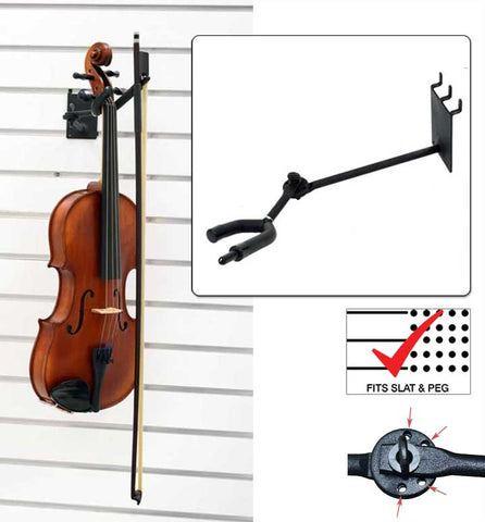 "7"" Violin / Viola Hanger with Bow Holder, Adjustable"