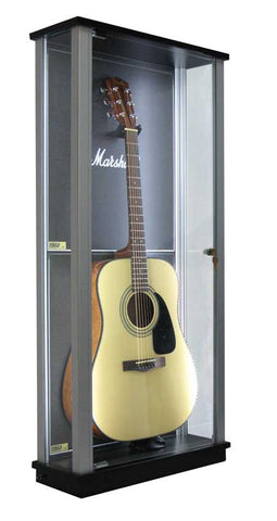 Locking Glass Guitar Display Case w/ LED's