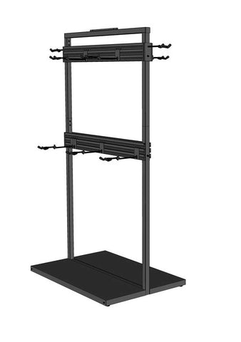 Free Standing Modular Guitar Display Double Tier