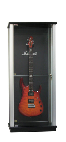 Locking Glass Guitar Display Case