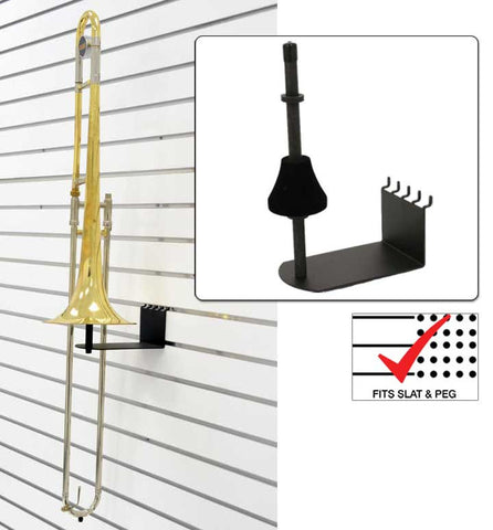 Trombone Holder fit slatwall and pegboard