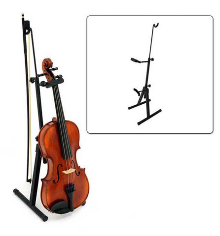 Adjustable Floor Viola/Violin Stand with bow holder