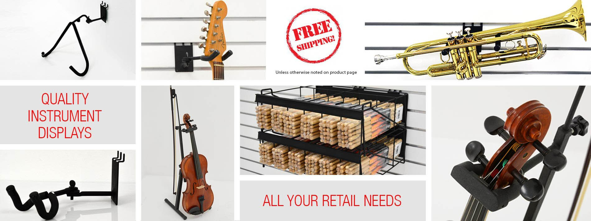 Image Great prices musical instrument displays