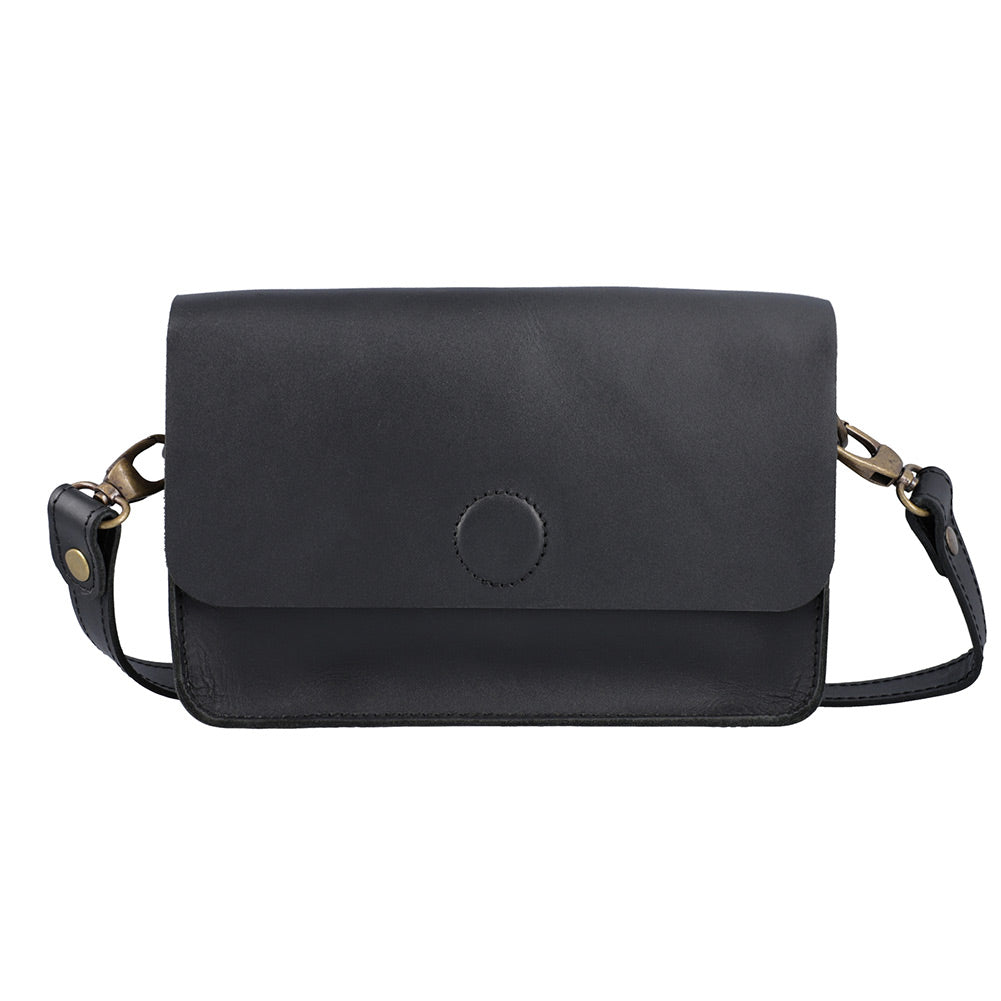 Roxy - Black - Leather Crossbody bags - Durable Leather Classics - Bear Necessities