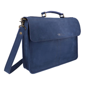 Balloo - Midnight Blue - Leather Messengers and satchels - Durable Leather Classics - Bear Necessities