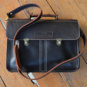 Balloo - Dark Chocolate - Leather Messengers and satchels - Durable Leather Classics - Bear Necessities