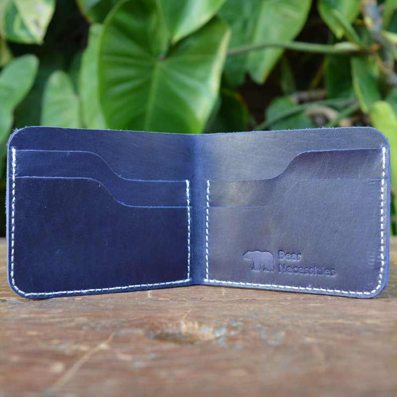 Kit - Blue - Leather Men's wallets - Durable Leather Classics - Bear Necessities