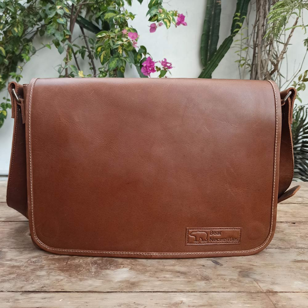 Laptop Carrier - Leather Messengers and satchels - Durable Leather Classics - Bear Necessities
