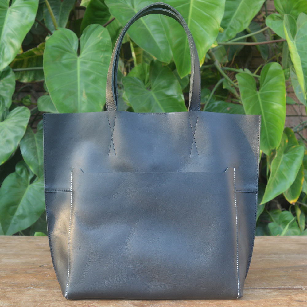 Lily - Black - Leather Totes - Durable Leather Classics - Bear Necessities
