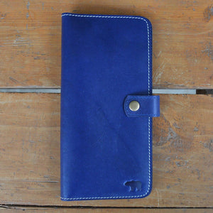 Passport Wallet - Blue - Leather Travel accessories - Durable Leather Classics - Bear Necessities