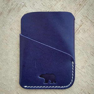 Smart Cardholder - Blue - Leather Cardholders - Durable Leather Classics - Bear Necessities