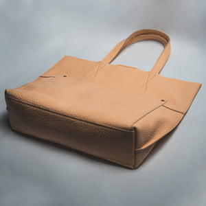 Lily - Beige - Leather Totes - Durable Leather Classics - Bear Necessities