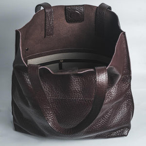 Lily - Ruby Black - Leather Totes - Durable Leather Classics - Bear Necessities