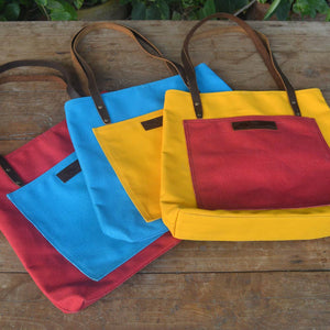 Pocket Tote - Leather Totes - Durable Leather Classics - Bear Necessities