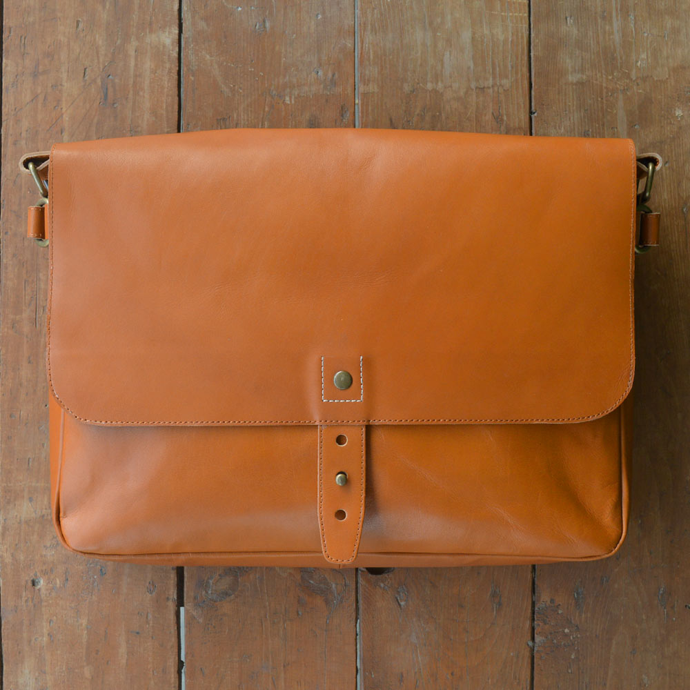 Classic Messenger - Mustard - Leather Messengers and satchels - Durable Leather Classics - Bear Necessities