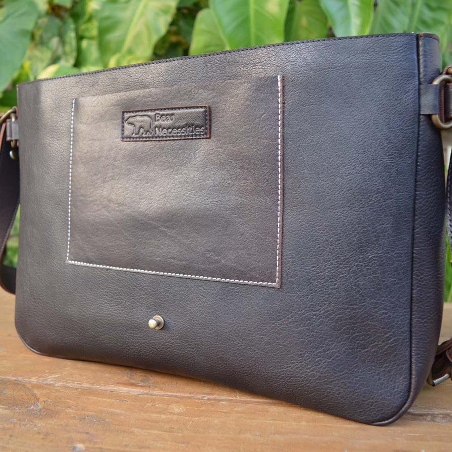 Classic Messenger - Dark Brown - Leather Messengers and satchels - Durable Leather Classics - Bear Necessities