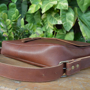 Classic Messenger in Milled Leather - Leather Messengers and satchels - Durable Leather Classics - Bear Necessities