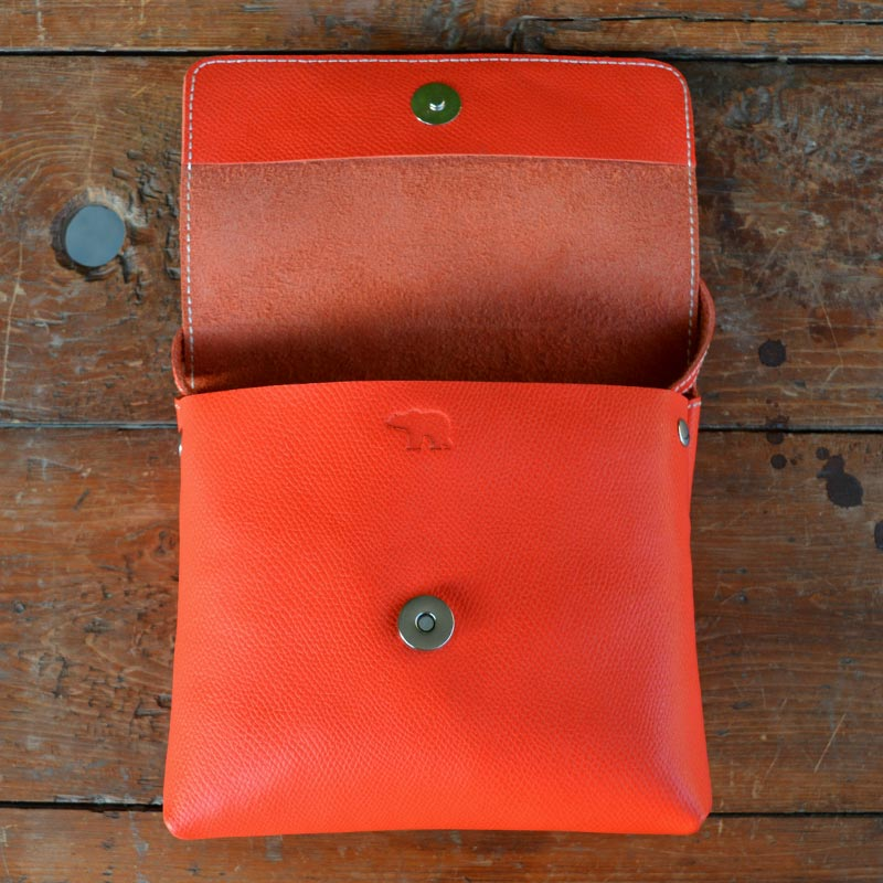 Daisy - Orange - Leather Crossbody bags - Durable Leather Classics - Bear Necessities