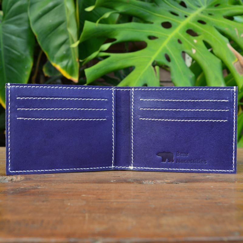 Jock - Blue - Leather Men's wallets - Durable Leather Classics - Bear Necessities